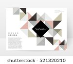 geometric background template... | Shutterstock .eps vector #521320210