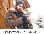 smiling bearded young man... | Shutterstock . vector #521320318
