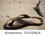 Sandal On The Beach.
