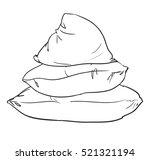 sketch vector pillows | Shutterstock .eps vector #521321194