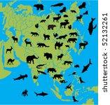 animal of asia   Shutterstock .eps vector #52132261