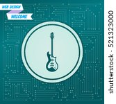 electric guitar icon. on a... | Shutterstock .eps vector #521323000