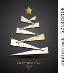 happy new year template.... | Shutterstock .eps vector #521323108
