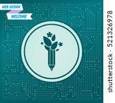 ecology pencil  eco pen icon on ... | Shutterstock .eps vector #521326978