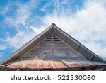 old roof of house in... | Shutterstock . vector #521330080