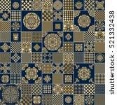 abstract seamless patchwork... | Shutterstock . vector #521332438