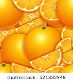 fresh juicy orange seamless... | Shutterstock .eps vector #521332948