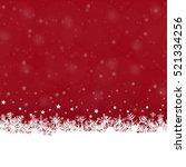 white snow flakes on bottom... | Shutterstock .eps vector #521334256