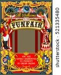 circus juggler fairground show... | Shutterstock . vector #521335480