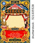 circus animal trainer show... | Shutterstock . vector #521335528