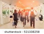 blurred of people walking in... | Shutterstock . vector #521338258