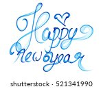 happy new year isolated words... | Shutterstock . vector #521341990