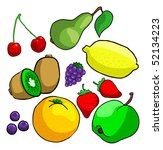 lots of fruits | Shutterstock . vector #52134223