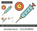 anesthesia vector line icon...   Shutterstock .eps vector #521343850