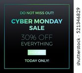 cyber monday concept design for ... | Shutterstock . vector #521346829