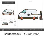 ambulance vector line icon... | Shutterstock .eps vector #521346964
