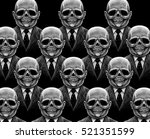 many skeletons skull office... | Shutterstock . vector #521351599