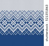 norway festive sweater fairisle ... | Shutterstock .eps vector #521351863