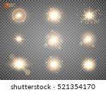 set. shining star  the sun... | Shutterstock .eps vector #521354170