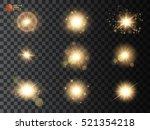 set. shining star  the sun... | Shutterstock .eps vector #521354218