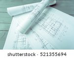 architectural plans | Shutterstock . vector #521355694