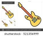 rock guitar vector line icon... | Shutterstock .eps vector #521356999