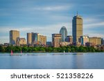 The Boston Skyline And Charles...