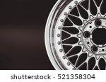 aluminum metal wheel rim... | Shutterstock . vector #521358304