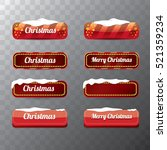 christmas vector red glossy... | Shutterstock .eps vector #521359234