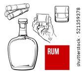 jamaican rum bellied bottle ...   Shutterstock .eps vector #521359378