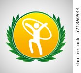 artistic gymnastic ring symbol...   Shutterstock .eps vector #521360944