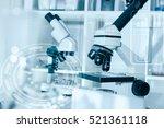 laboratory microscope lens... | Shutterstock . vector #521361118