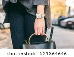 close up fashion details  young ... | Shutterstock . vector #521364646