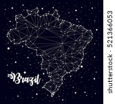 constellation. brazil maps ... | Shutterstock .eps vector #521366053