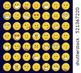 set of emoticons  icon pack ...   Shutterstock .eps vector #521367220