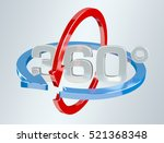 360 degree 3d render icon on... | Shutterstock . vector #521368348