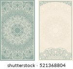 set of wedding invitations or... | Shutterstock .eps vector #521368804