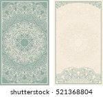 set of wedding invitations or... | Shutterstock .eps vector #521368804