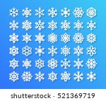 cute snowflake collection... | Shutterstock .eps vector #521369719