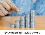 saving money for the future... | Shutterstock . vector #521369953