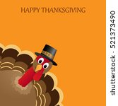 happy thanksgiving celebration... | Shutterstock .eps vector #521373490