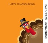 happy thanksgiving celebration... | Shutterstock .eps vector #521373493