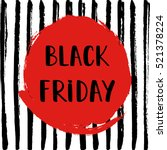 black friday sale poster on... | Shutterstock .eps vector #521378224