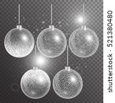 christmas decoration ball. new... | Shutterstock .eps vector #521380480