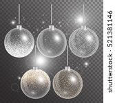 christmas ball isolated. new... | Shutterstock .eps vector #521381146
