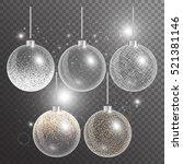 christmas ball isolated. new... | Shutterstock .eps vector #521381146