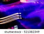 abstract night lights texture... | Shutterstock . vector #521382349