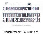 3d illusion alphabet letters... | Shutterstock .eps vector #521384524