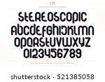 3d illusion alphabet letters... | Shutterstock .eps vector #521385058