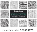 set of ten hand drawn ink... | Shutterstock .eps vector #521385973